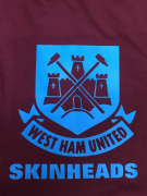 WEST HAM SKINHEADS T-SHIRT (Burgundy)